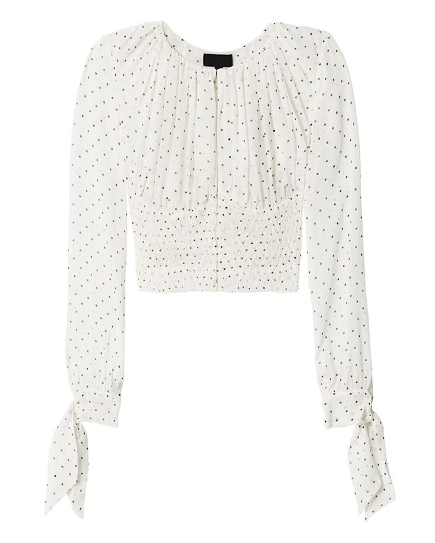 Exclusive for Intermix Fontana Polka Dot Blouse