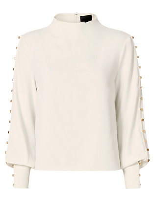 Exclusive for Intermix Candice Button Blouse