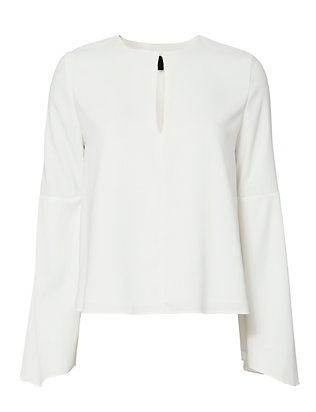 Exclusive for Intermix Devin Flare Sleeve Blouse