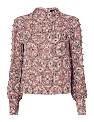 Exclusive for Intermix Candice Paisley Blouse