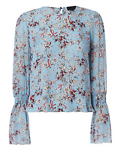 Exclusive for Intermix Loni Printed Blouse