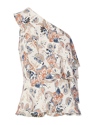 Exclusive for Intermix Scarlett Single Shoulder Print Top