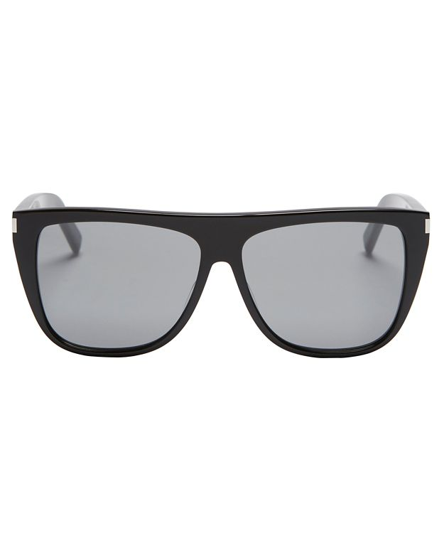 Saint Laurent Flat Top Black Sunglasses