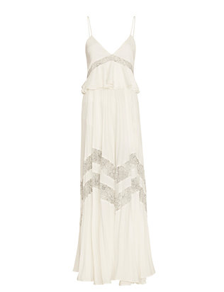 Amelia Pleated Lace Gown