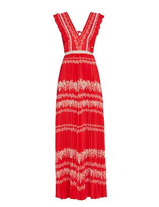 Printed Maxi Dress: Red