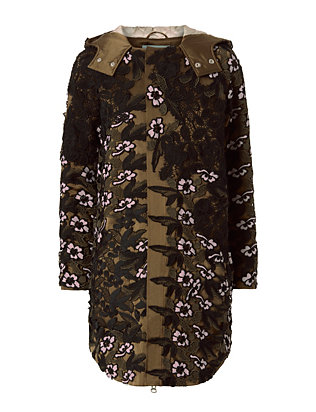 Self-Portrait Lace Parka