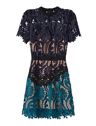 Two Tone Lace Mini Dress