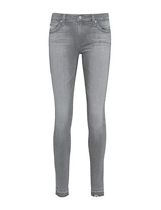 AG Let Down Hem Super Skinny Ankle Legging: Grey