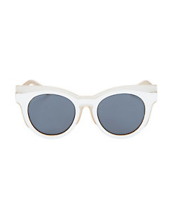 Le Specs Luxe x Self-Portrait Edition Three Sunglasses: White/Nude