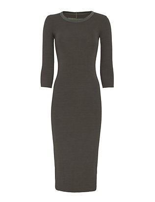 Enza Costa EXCLUSIVE Ribbed Maxi Dress: Black