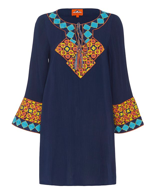 Pia Pauro EXCLUSIVE Embroidered Dress