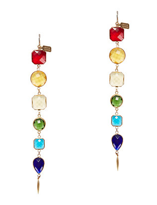 Long Rainbow Earrings