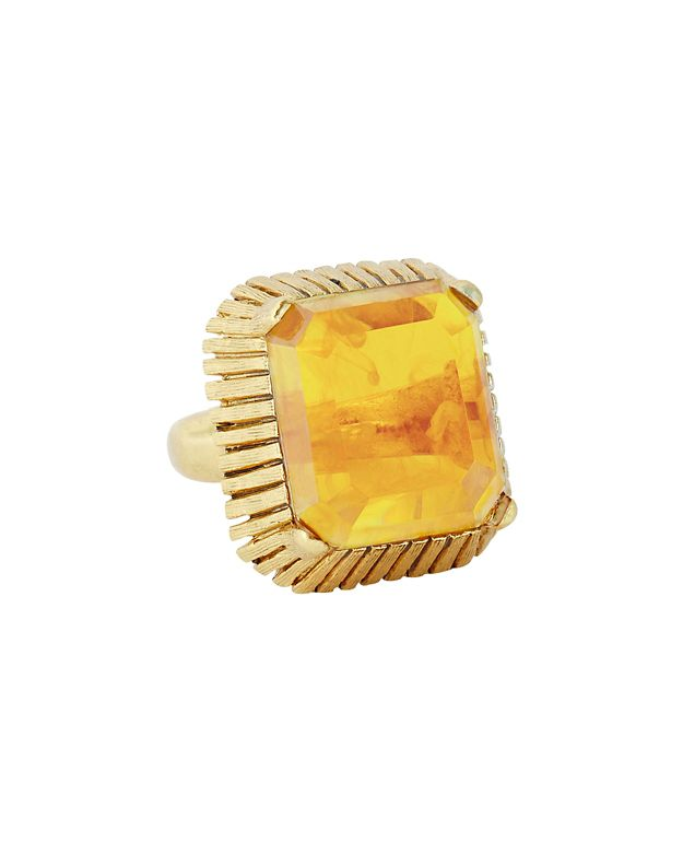 Elizabeth Cole Wren Cocktail Ring: Topaz