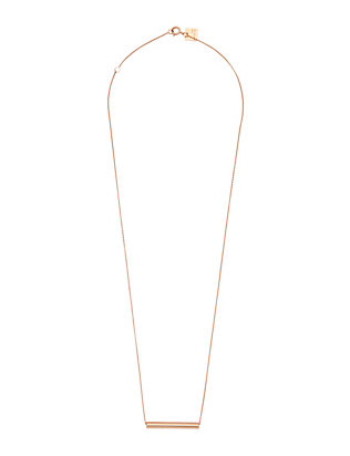 Ginette NY Large Straw Pendant Necklace