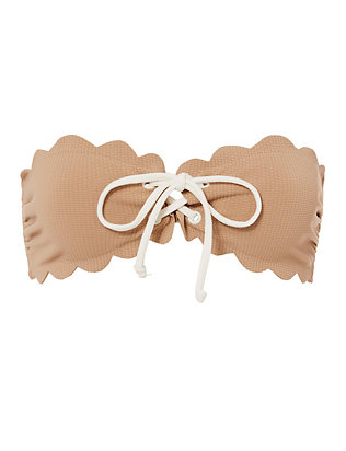 Antibes Lace-Up Bandeau Bikini Top- FINAL SALE