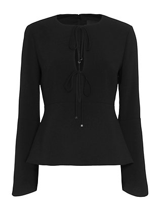 Exclusive for Intermix Gerri Top: Black
