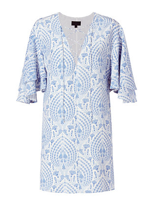 Exclusive for Intermix Ludlow Flutter Sleeve Dress