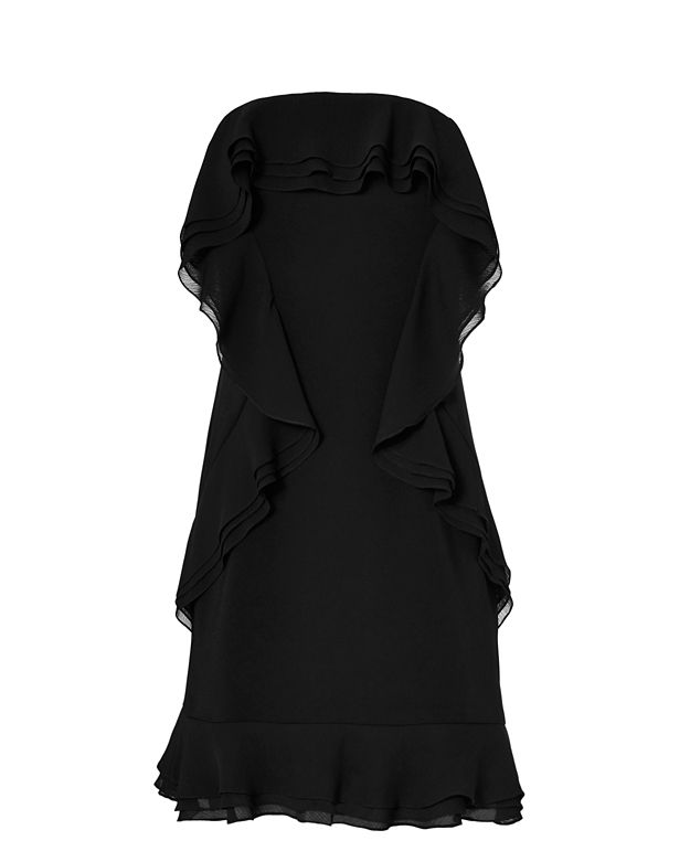 Exclusive for Intermix Lovell Ruffled Strapless Dress