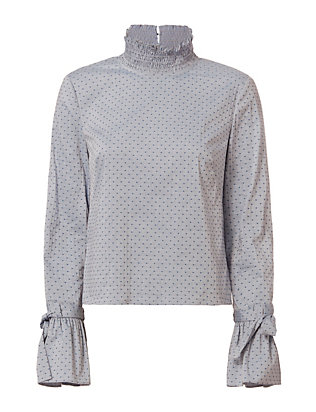Exclusive for Intermix Iris Swiss Dot Top