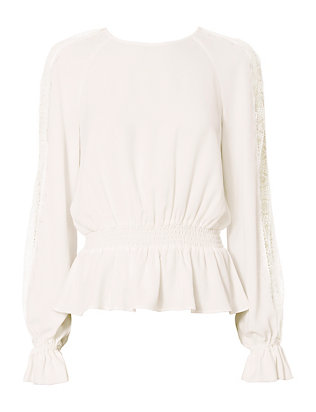 Exclusive for Intermix Joy Lace Detail Sleeve Blouse