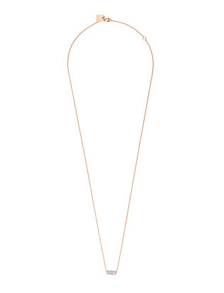 Ginette NY Pave Diamond Mini Straw Necklace