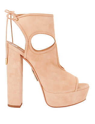 Aquazzura Sexy Thing Suede Sandals: Sand