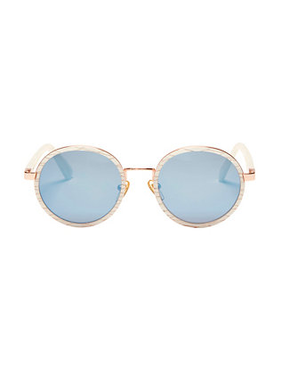 Ned Mother Of Pearl Round Sunglasses