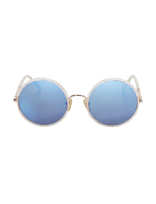 Sunday Somewhere Yetti Round Mother of Pearl Sunglasses