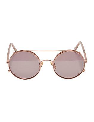Valentine Grey Lens Pop Off Round Sunglasses