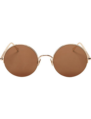 Sunday Somewhere Raine Gold-Tone Metal Half Rim Sunglasses