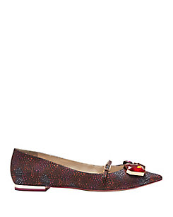 Sophia Webster Piper Pointy Toe Gem Embellished Flat