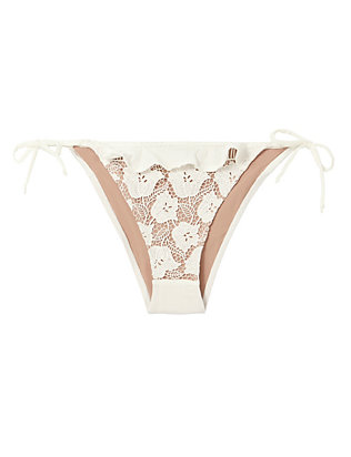 For Love & Lemons Corsica Lacey Ruffle Bikini Bottom