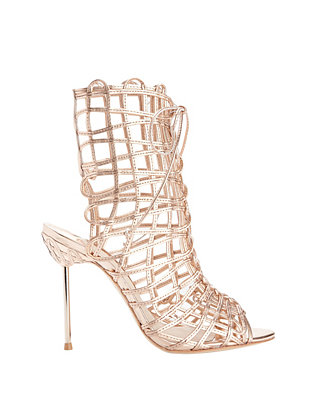 Delphine Strappy Cage Metallic Sandals