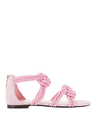 Maison Ernest Sybille Rope Pink Sandals