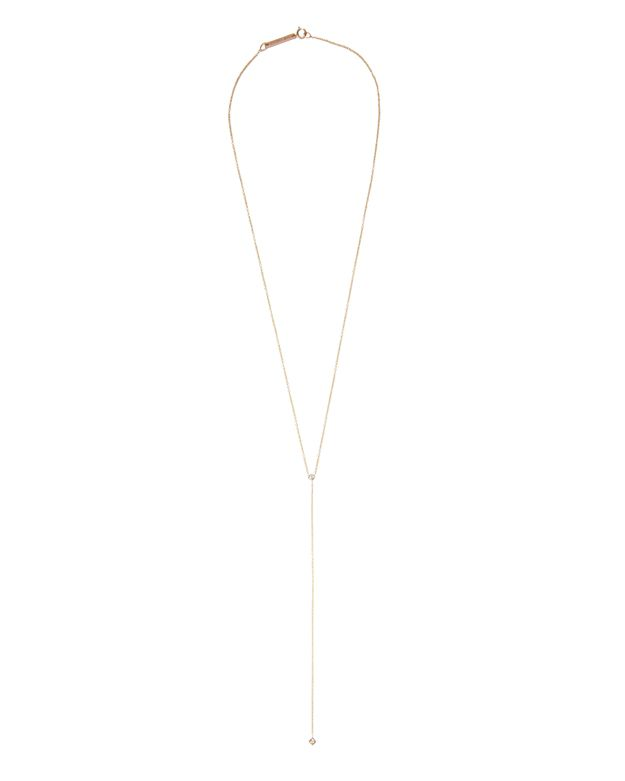 Zoe Chicco Princess Diamond Lariat Necklace
