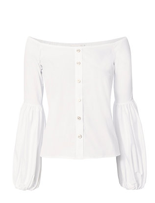 Caroline Constas Off The Shoulder Poplin Top