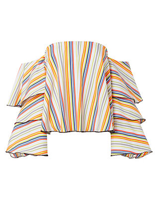 Carmen Striped Off-The-Shoulder Top