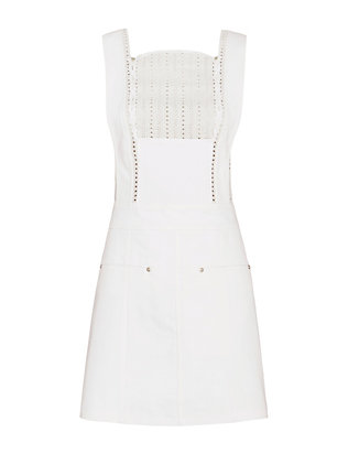Thakoon Eyelet White Denim Dress