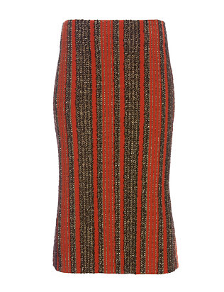 Thakoon Striped Boucle Seamed Skirt