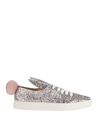 Minna Parikka Faux Fur Pom Glitter Sneakers