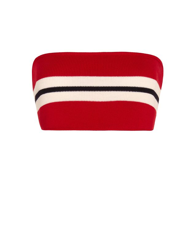Etienne Deroeux Striped Bandeau Knit