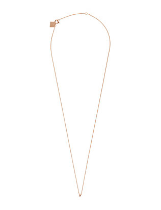 Ginette NY Diamond Detailed Tube Pendant Necklace