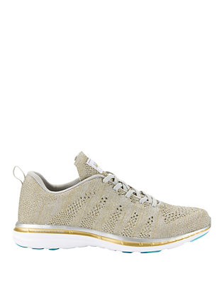 TechLoom Metallic Melange Knit Performance Sneakers