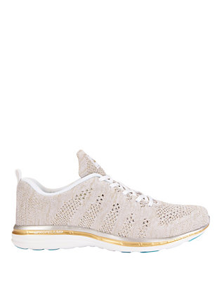 TechLoom Metallic Knit Performance Sneakers: Grey