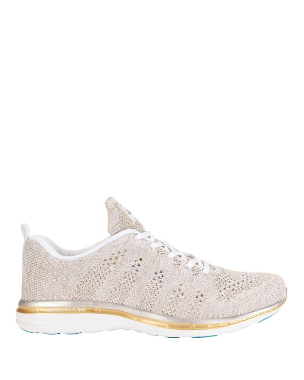 APL TechLoom Metallic Knit Performance Sneakers: Grey