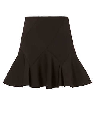 Derek Lam 10 Crosby EXCLUSIVE Neoprene Flare Mini Skirt: Black