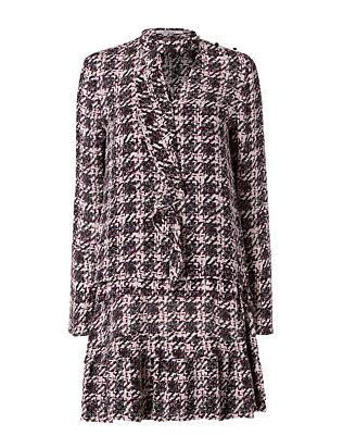 2 in 1 Houndstooth Shirtdress