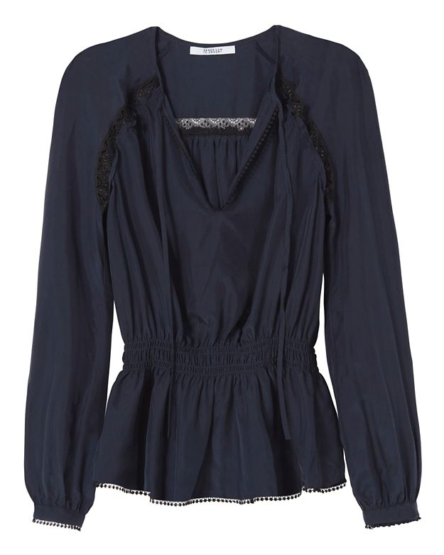 Derek Lam 10 Crosby EXCLUSIVE Lace Inset Peplum Blouse