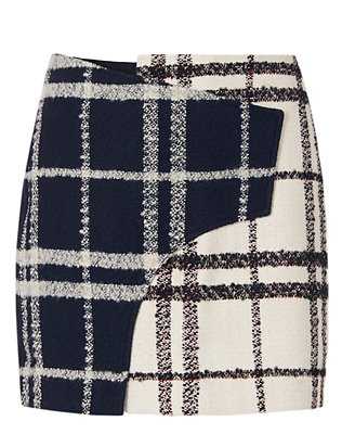 Derek Lam 10 Crosby EXCLUSIVE Mixed Plaid Mini Skirt