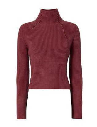 Derek Lam 10 Crosby Asymmetric Ribbed Cashmere Sweater